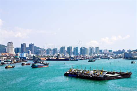 grande porto della cina porto dell isola di di sanya cina immagine stock