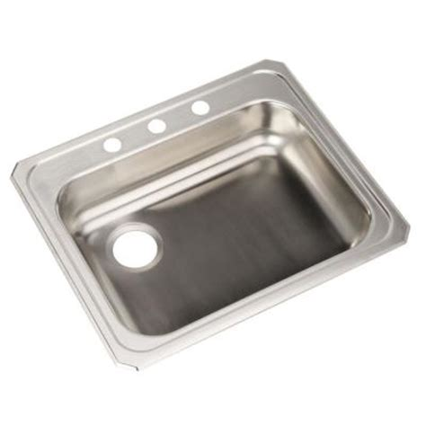 elkay ada top mount stainless steel 25 in x 21