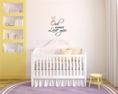 nursery quotes wall decals owl always you nursery playroom vinyl wall decal