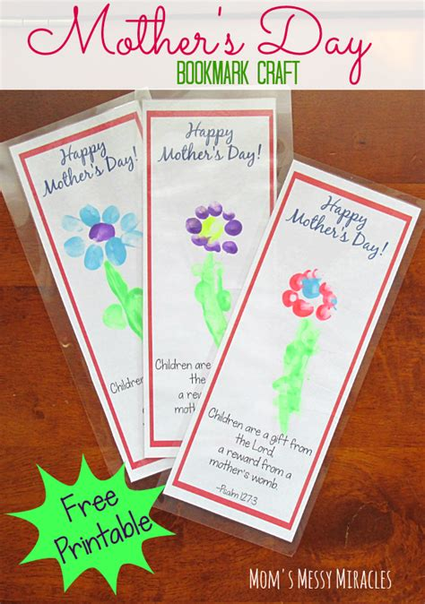 printable bookmarks to make free printable bookmark craft for mother s day free