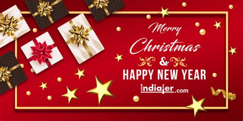 merry christmas  happy  year  text psd banner indiater