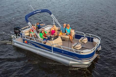 fishing boat vs pontoon sun tracker boats signature pontoons 2014 fishin barge