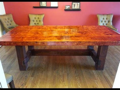 home made kitchen table how to build a dining room table 13 diy plans guide
