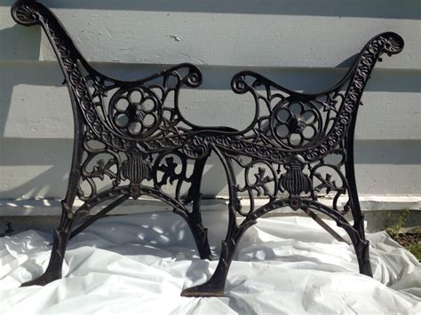 antique iron bench antique cast iron bench legs ornate black bench