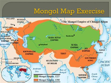 mongol empire map central asia the rise of the mongols ppt