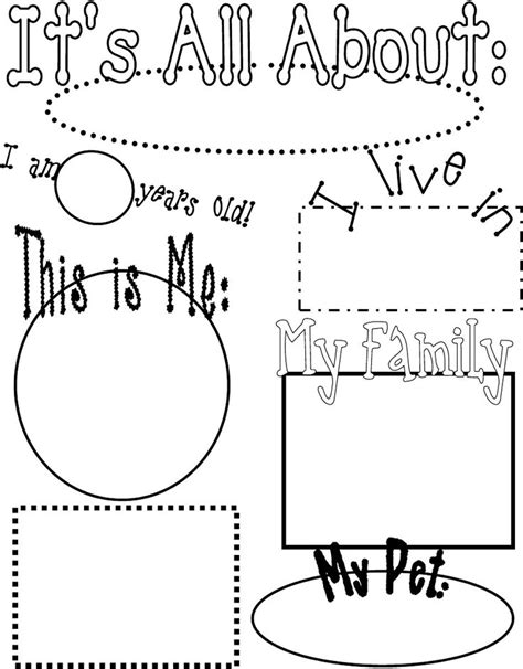 preschool coloring pages all about me 89 best all about me theme images on pinterest
