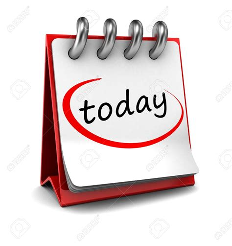 Is Today S Day Calendar Clipart Today Pencil And In Color Calendar