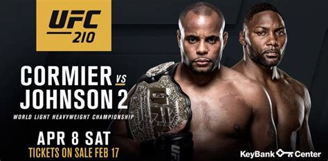 ufc card template ufc 210 cormier vs johnson 2 fight card