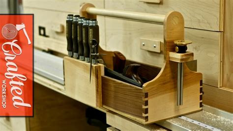 woodworking with only tools tool tote with cut dovetails how to build