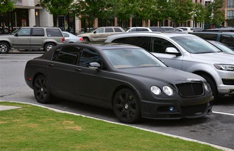 Matte Black Bentley Flying Spur Atlanta Streets Cars