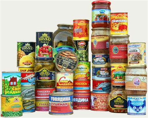 canned food canned foods
