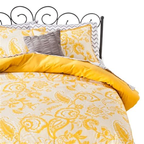Yellow Paisley Comforter by Xhilaration Paisley Bed In A Bag Yellow Target