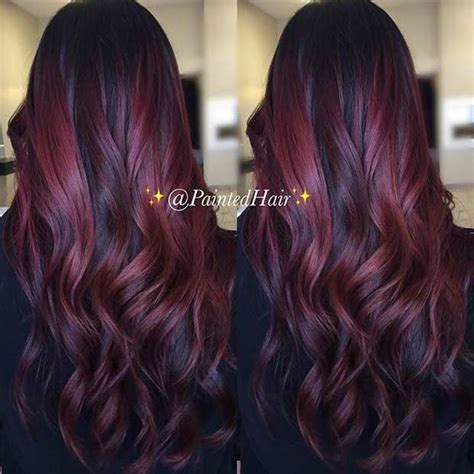 cute neon highlights 21 amazing dark red hair color ideas bright red