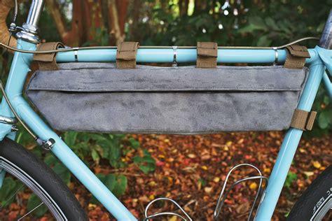 diy bean bag frame diy waxed canvas frame bag pedaling nowhere
