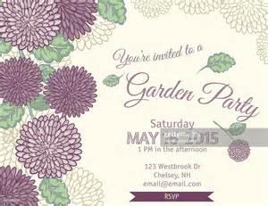 garden invitation template garden invitation template clipart vectoriel getty