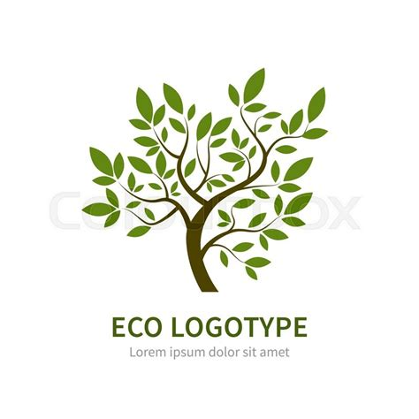 Stylized Vector Simple Tree Logo Vector Tree Logotype For Gardening And Environment Concepts Green Tree Logo Vector Vector Logo Free