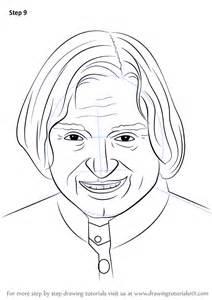 learn draw apj abdul kalam politicians step step drawing tutorials