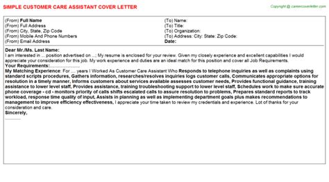 Customer Escalation Letter Customer Care Escalation Specialist Cover Letters