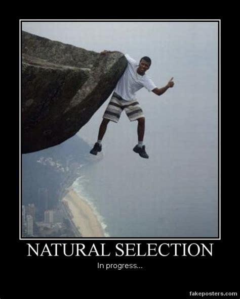 natural selection demotivational poster fakeposters com