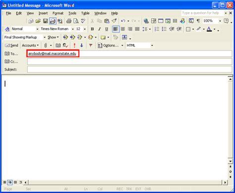 format html mailto text links mga