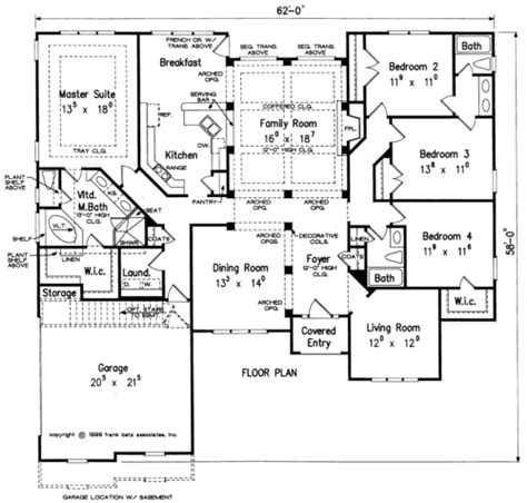 simmons house floor plan frank betz associates