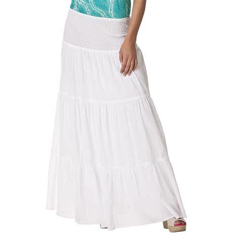white calypso maxi skirt
