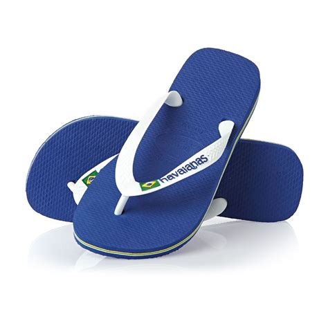 Flip Flops havaianas brasil logo flip flops marine blue free uk
