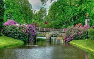 beauty garden the most beautiful of world garden bridge wallpaper hd