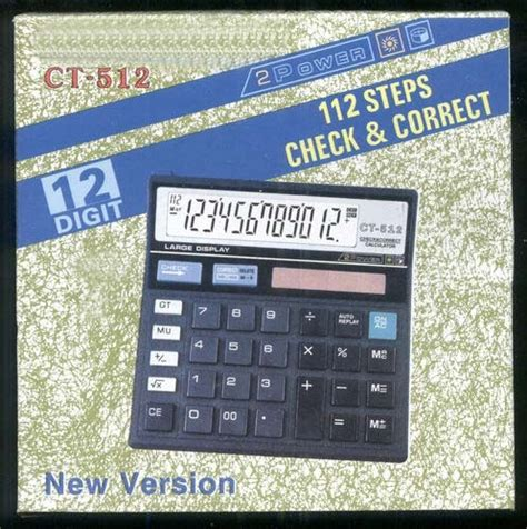 Calculator Citizen 12 Digit Bisa Check Back Correct buy new 12 digit display high quality calculator ct 512 in india 81518807 shopclues