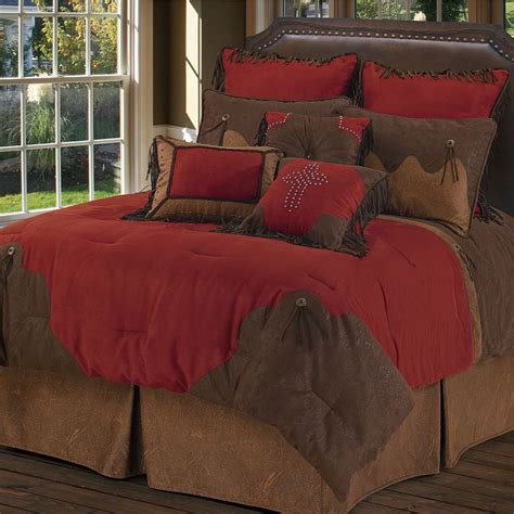 red bed red rodeo western comforter bed set