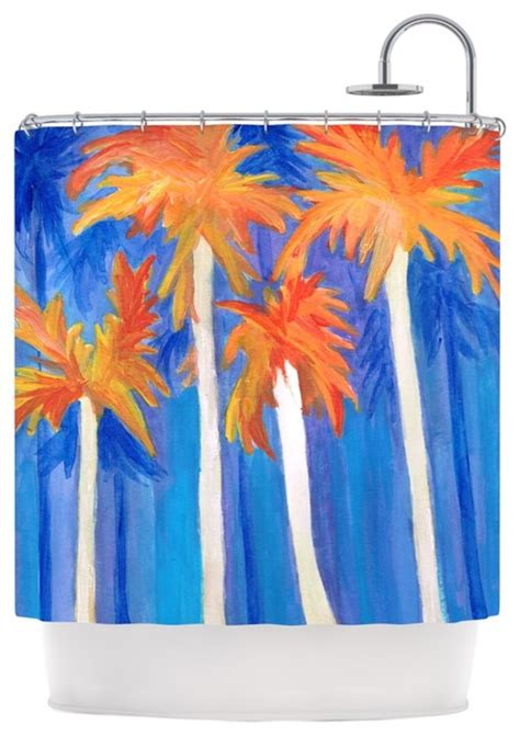 orange and blue shower curtain rosie brown quot florida autumn quot blue orange shower curtain