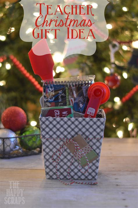 teacher christmas gift idea the happy scraps