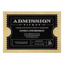 black ticket invitations 5 quot x 7 quot invitation card zazzle
