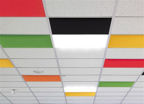Colored Drop Ceiling Tiles by Colored Acoustic Panels For Suspended Ceiling Idfdesign
