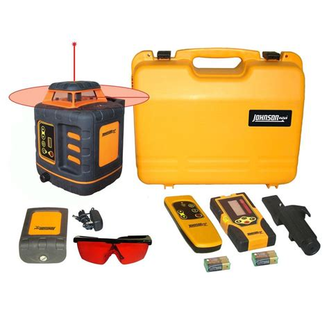 johnson self leveling rotary laser level 40 6532 the