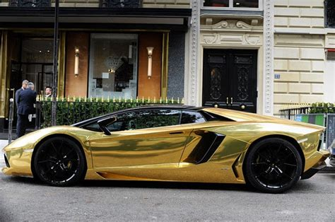 Gold Lamborghini Aventador creates a buzz in Paris Telegraph