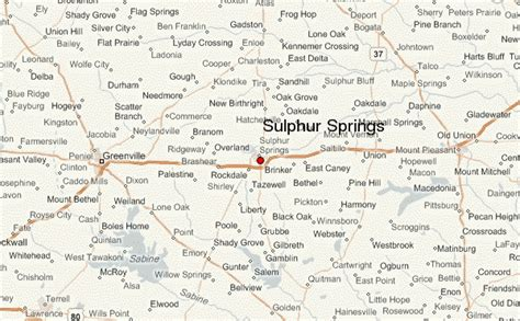 map of sulphur springs texas sulphur springs location guide