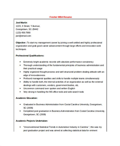 mba sle resume for freshers finance best resume formats 40 free sles exles format free premium templates