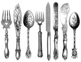 vintage cutlery clipart cutlery engraving fork knife natalie wood panel wall art knife fork and spoon for