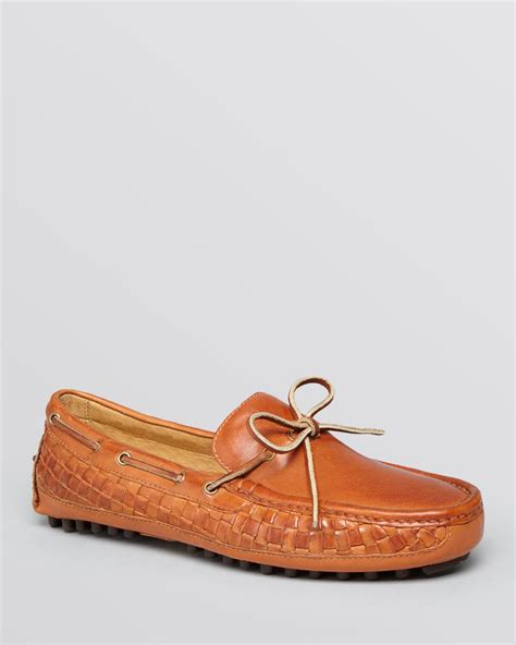 cole haan driving loafers cole haan grant c woven leather moc driving loafers in