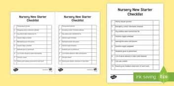 new year eyfs twinkl nursery new starter checklist requests cfe nursery early