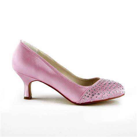 Rhinestone Wedding Shoes by S Fashion Satin Stiletto Heel Closed Toe With