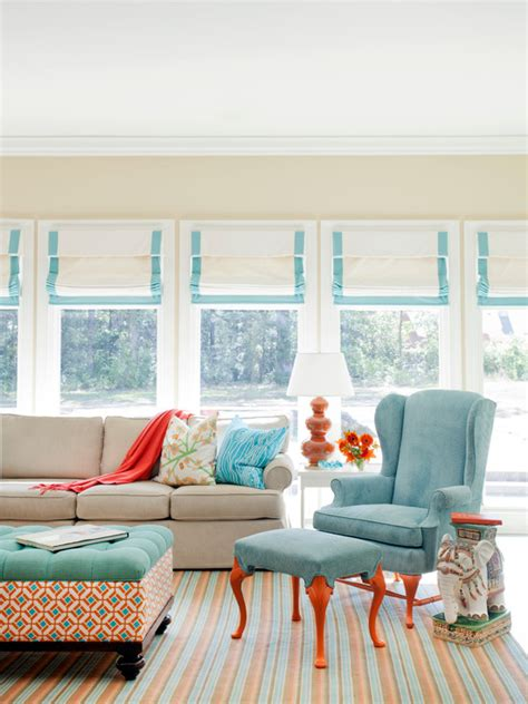 orange and turquoise living room ideas living room turquoise ottoman eclectic living room sherwin
