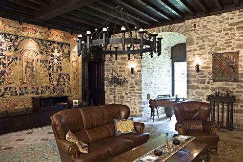 living room  ground level medieval castle de montbrun