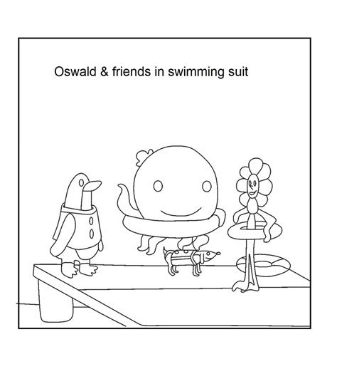 free oswald the octopus coloring pages