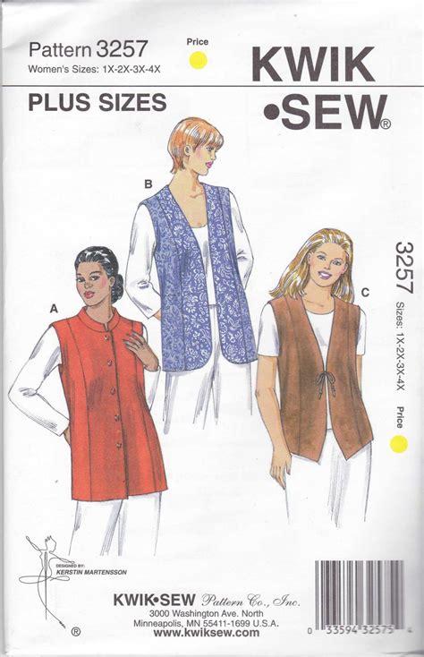 sewing pattern sizes kwik sew sewing pattern 3257 women s plus sizes 1x 4x