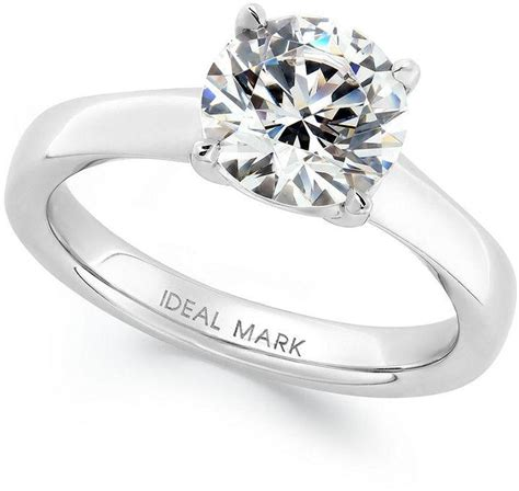 idealmark certified solitaire engagement ring in