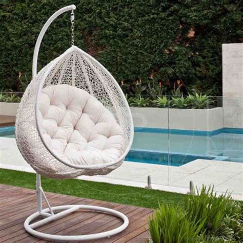 Hanging Chair Kursi Gantung Ayunan home accessory white hanging egg chair chair cozy pool wheretoget