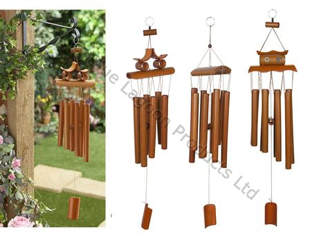 Decorative Ornaments For The Home Uk 67cm Hanging Bamboo Wind Chime Decorative Outdoor Ornament Garden Home Mobile Ebay
