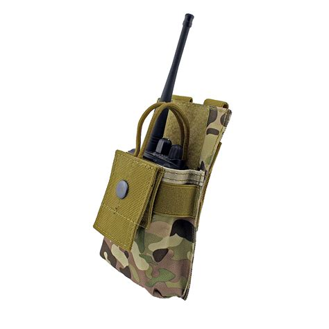 Pouch Emerson Radio Walkie Bag Adjustable Talkie Pocket adjustable molle radio holder tactical walkie talkie holster open top m4 mag pouch in pouches